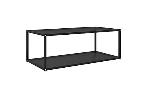 Soffbord svart 100x50x35 cm härdat glas, Soffbord