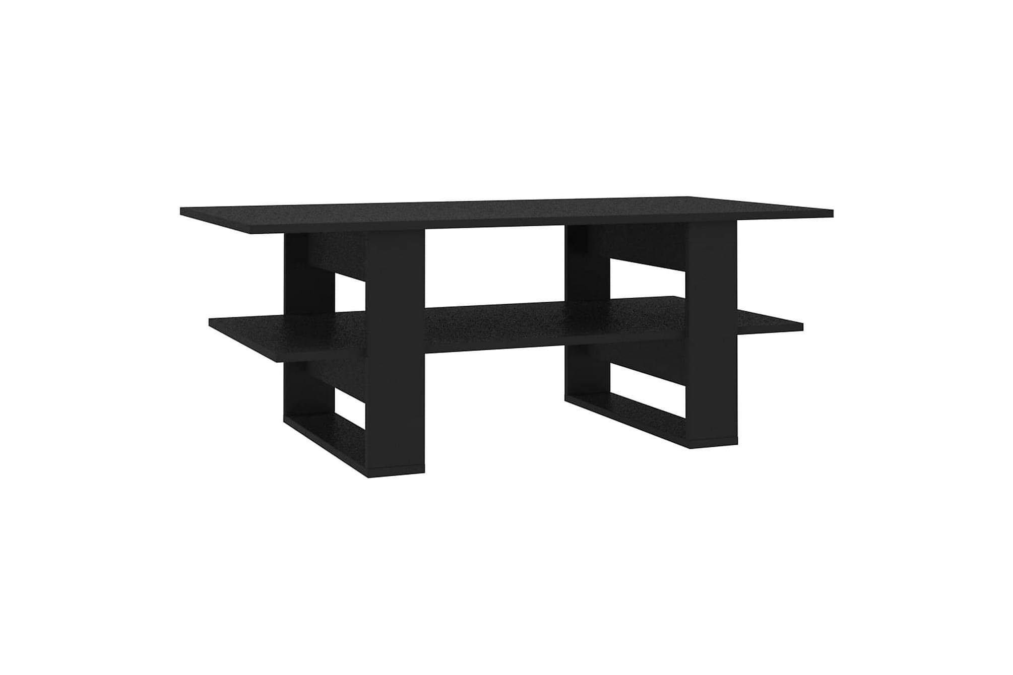 Soffbord svart 110x55x42 cm spånskiva