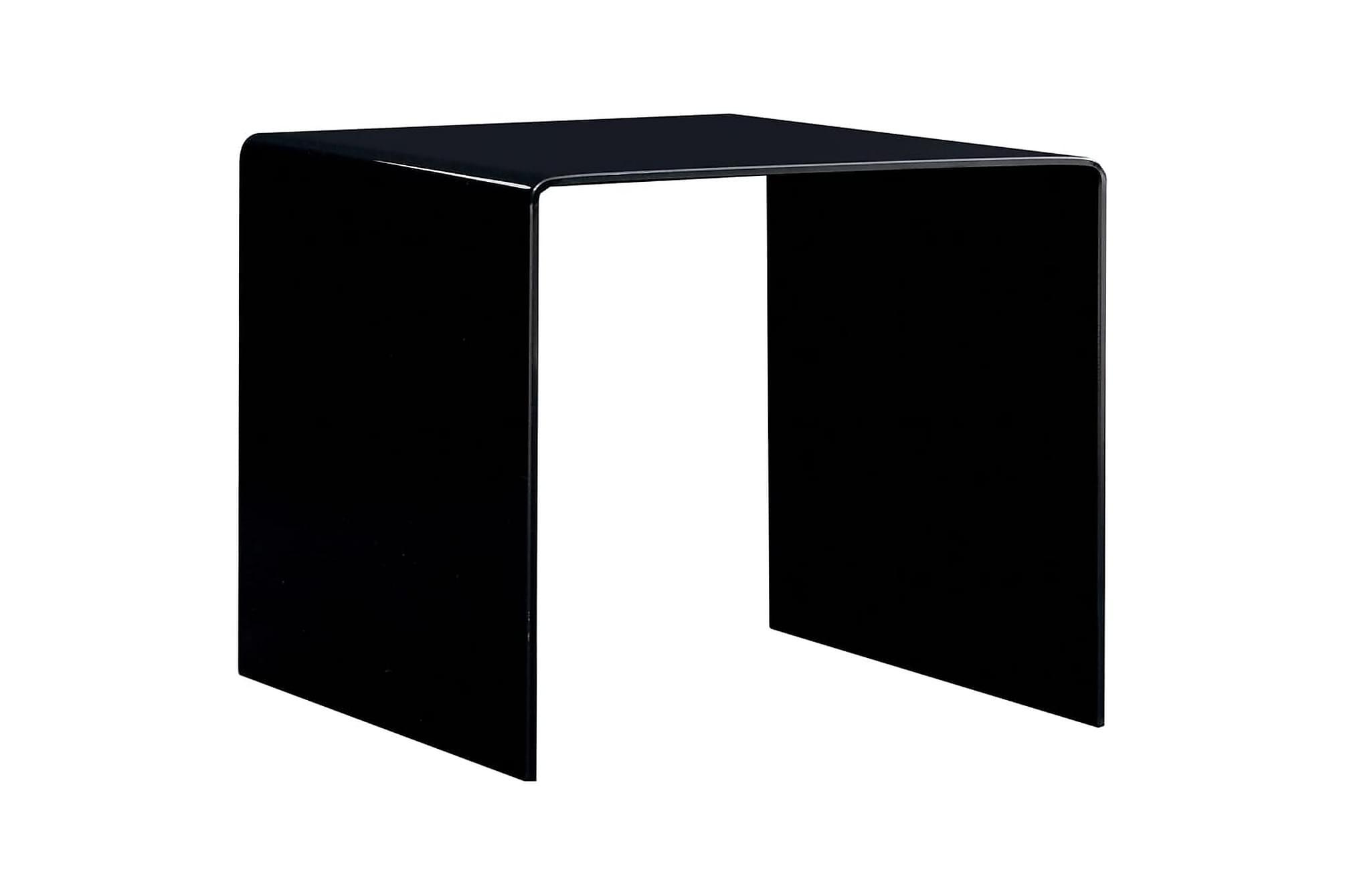 Soffbord svart 50x50x45 cm härdat glas
