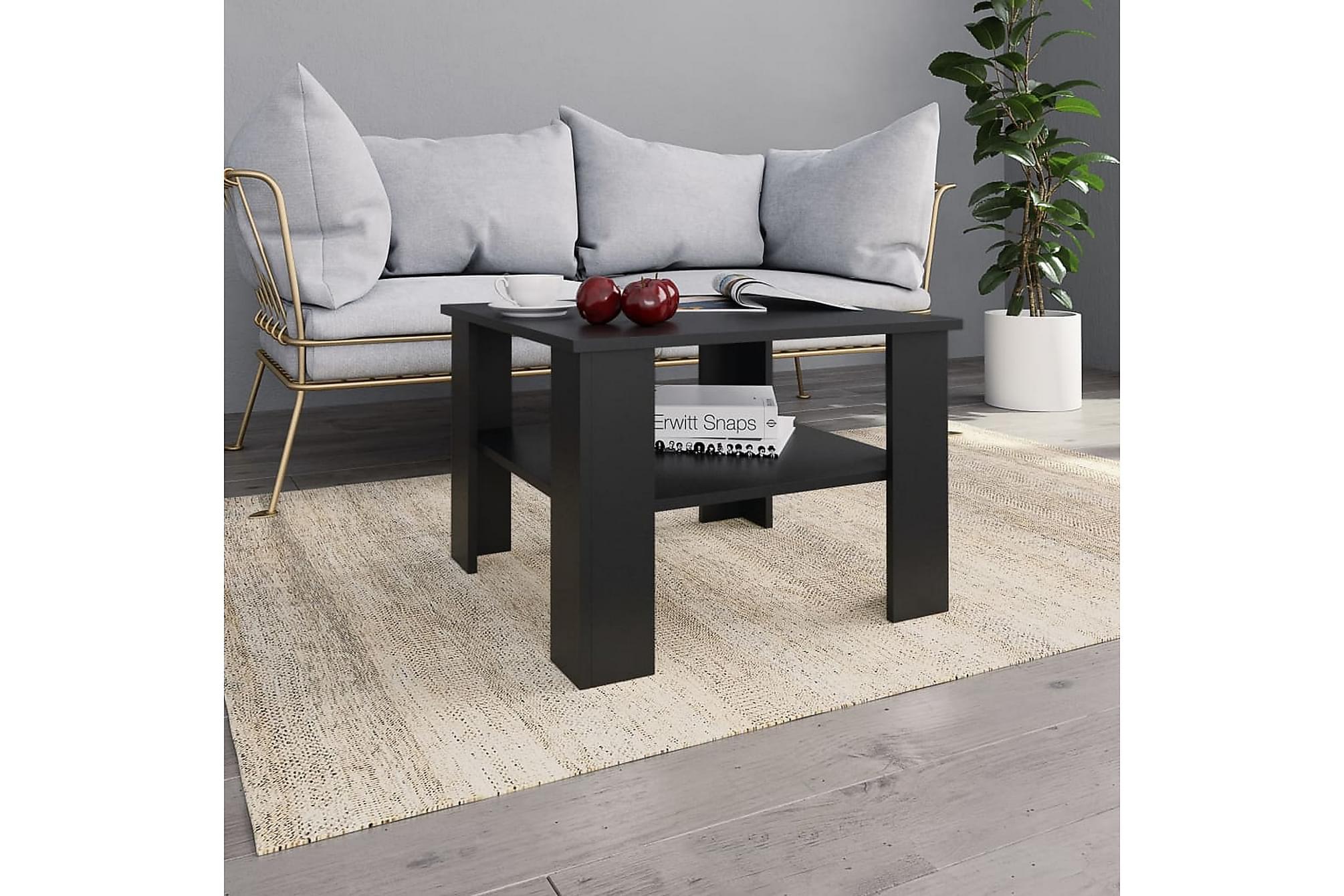 Soffbord svart 60x60x42 cm spånskiva
