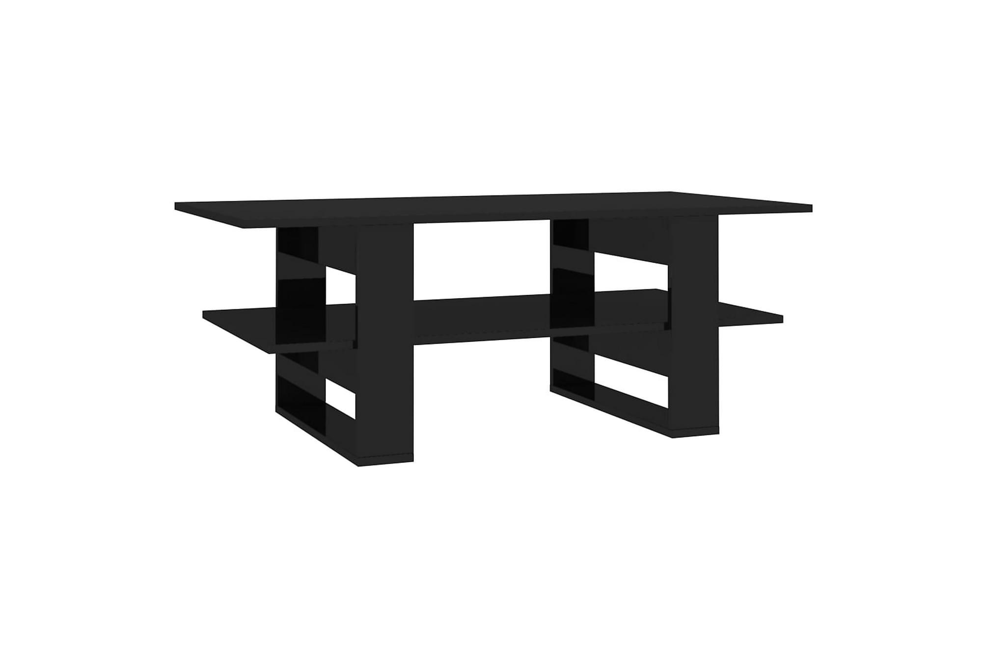 Soffbord svart högglans 110x55x42 cm spånskiva