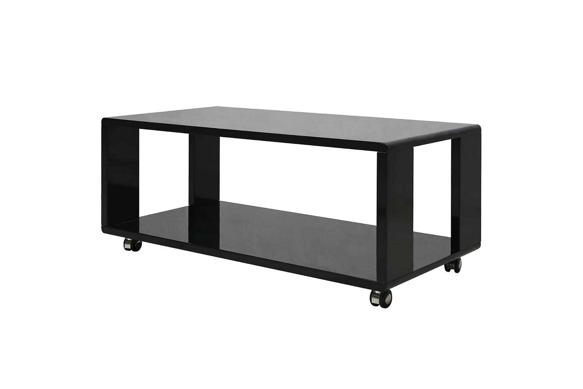 Soffbord svart högglans