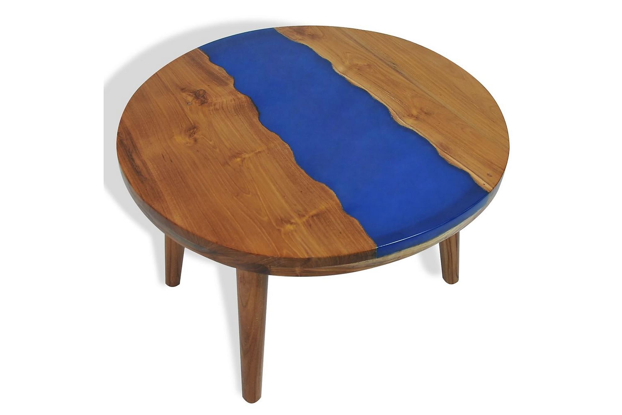 Soffbord teakträ harts 60x40 cm
