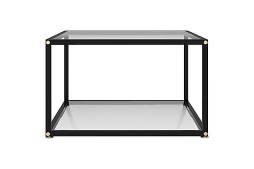 Soffbord transparent 60x60x35 cm härdat glas, Soffbord