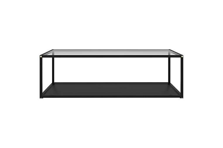 Soffbord transparent och svart 120x60x35 cm härdat glas - Flerfärgad - Möbler & Inredning - Bord - Soffbord
