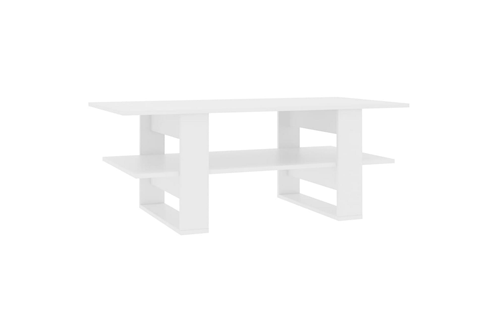 Soffbord vit 110x55x42 cm spånskiva