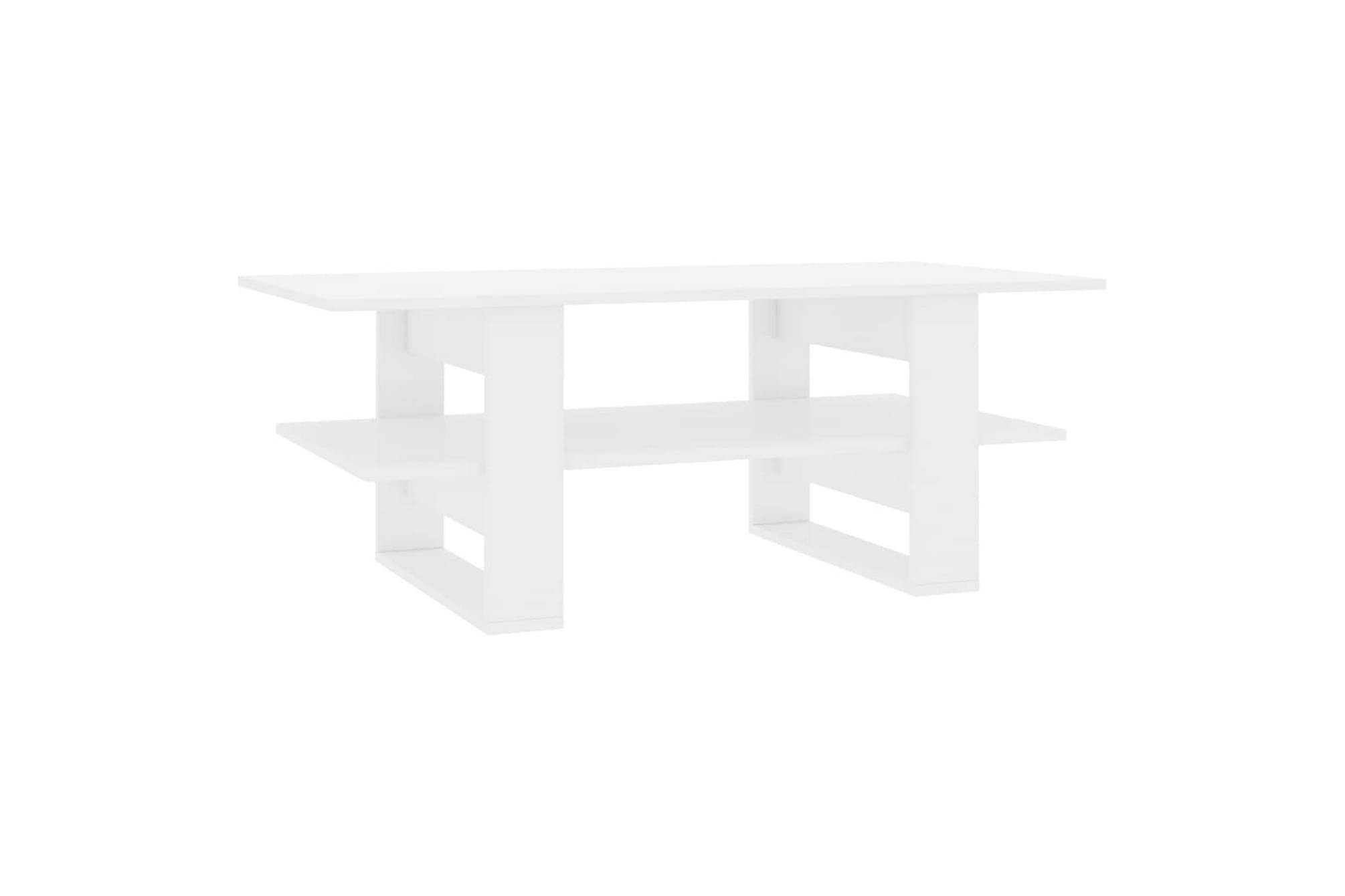 Soffbord vit högglans 110x55x42 cm spånskiva