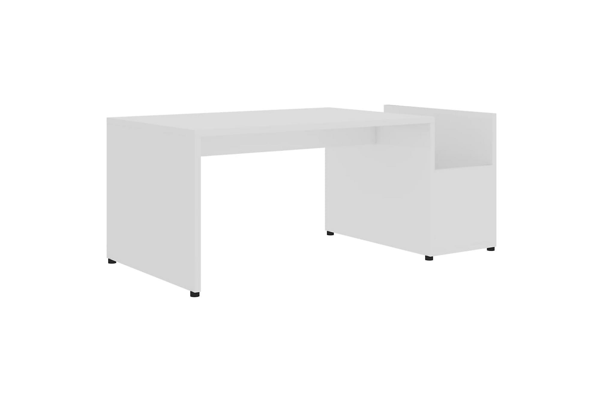 Soffbord vit högglans 90x45x35 cm spånskiva