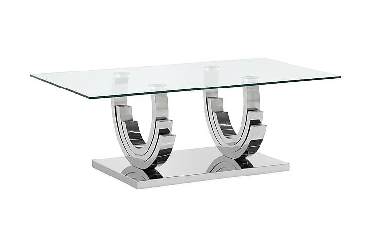 STOLTE Soffbord 130 cm Rostfritt Stål/Glas - Möbler & Inredning - Bord - Soffbord