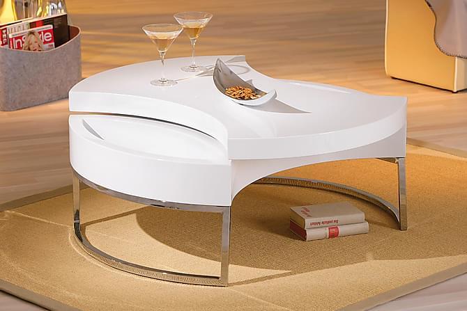 TURNAROUND Soffbord 100 Oval Vit - Möbler & Inredning - Bord - Soffbord
