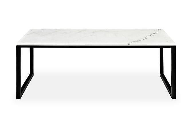 VICTOR Soffbord 120 Vit/Svart - Möbler & Inredning - Bord - Soffbord