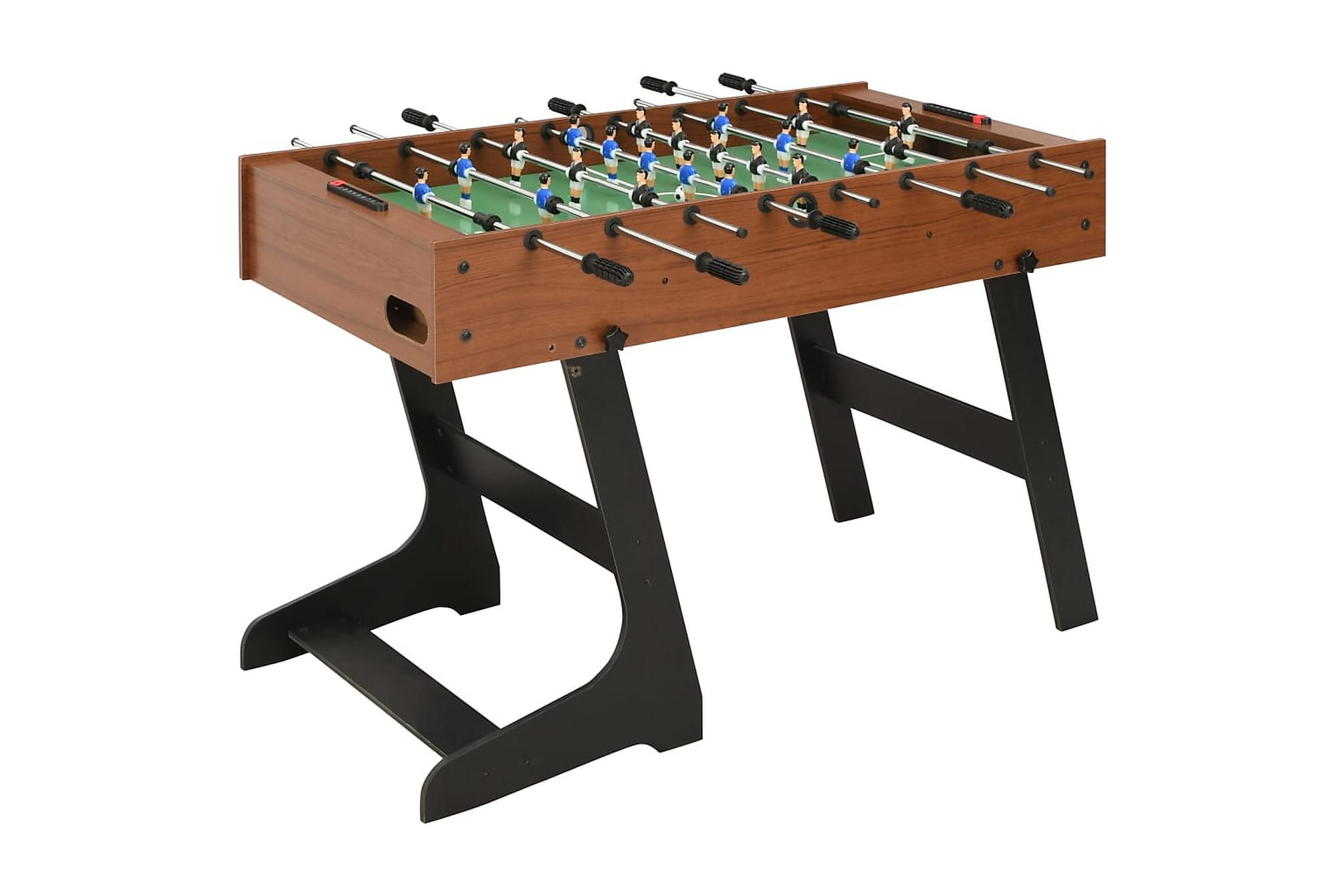 Fotbollsbord hopfällbart 121x61x80 cm brun