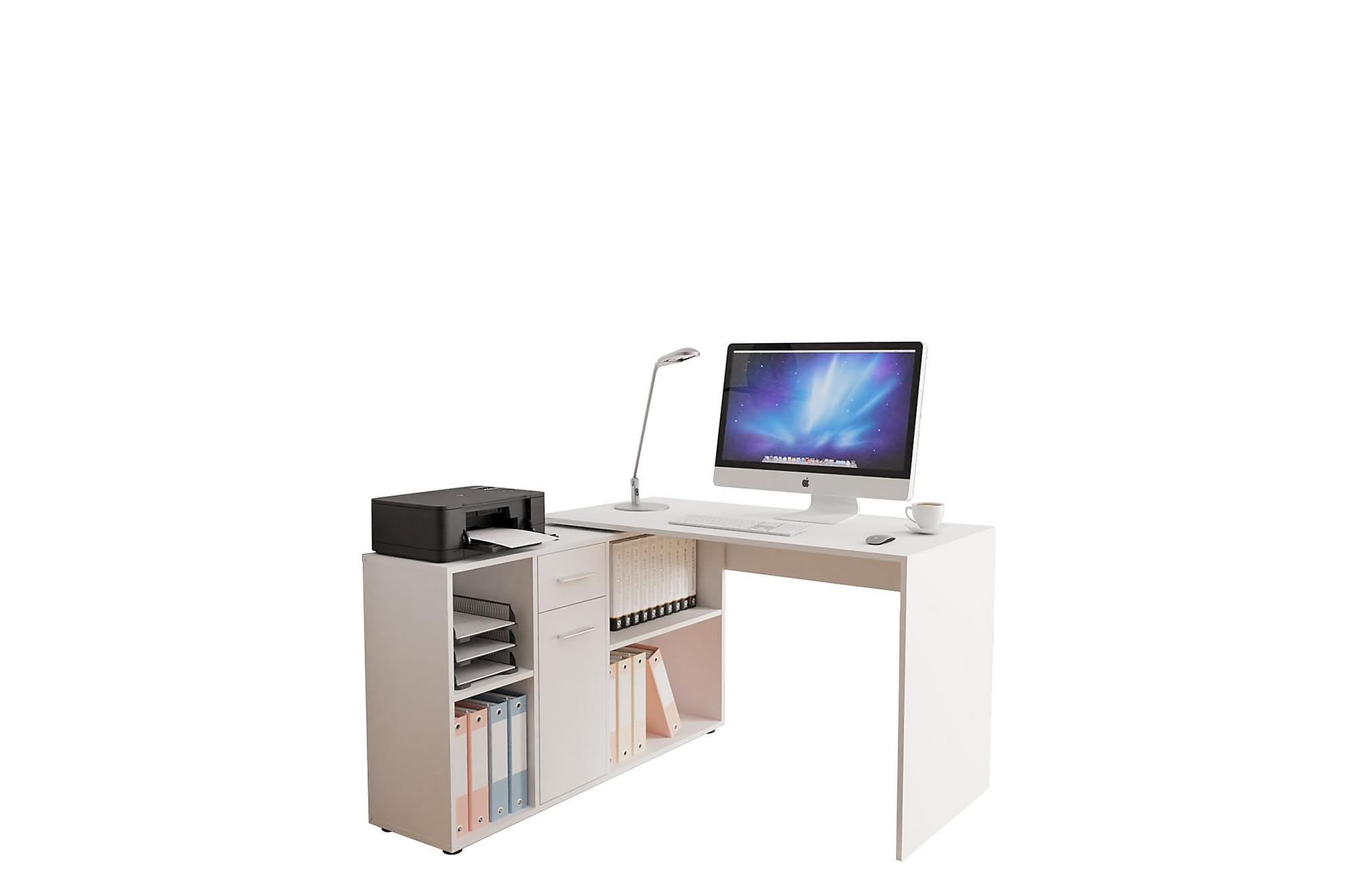 ARMANDO Skrivbord 120x121 cm Vit, Bord