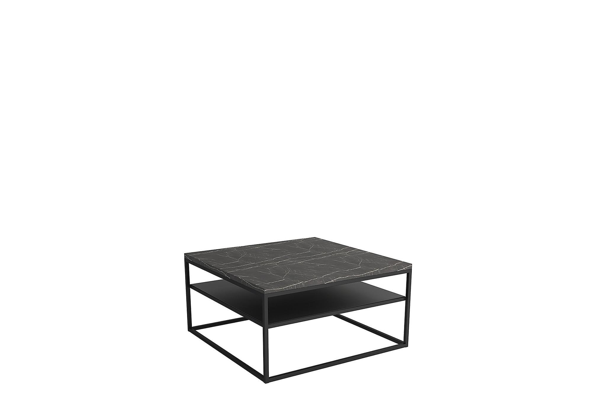 Northleach soffbord 85 cm marmor/svart