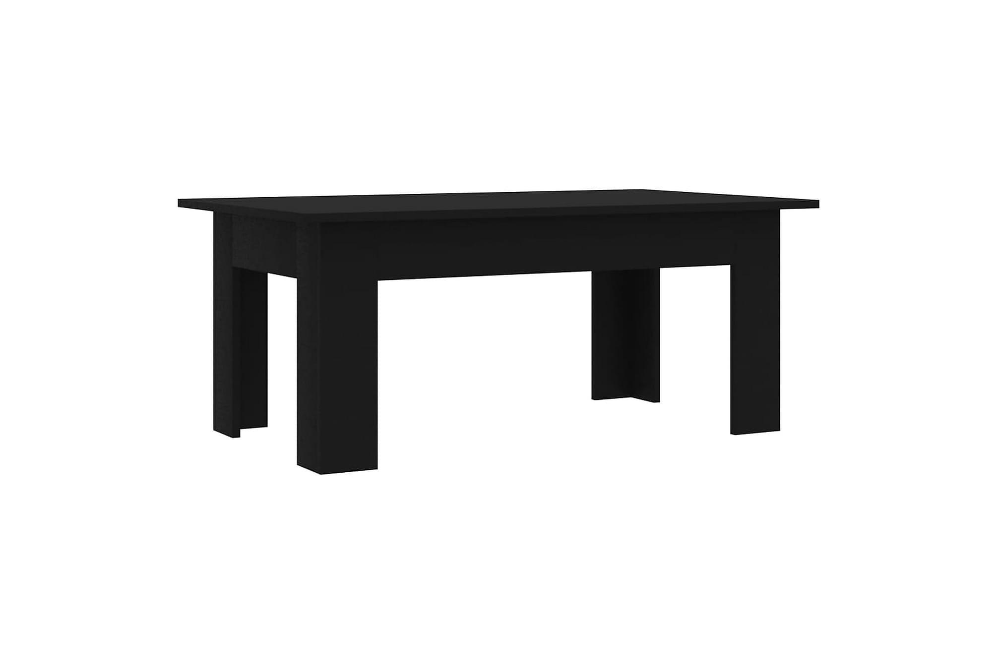 Soffbord svart 100x60x42 cm spånskiva