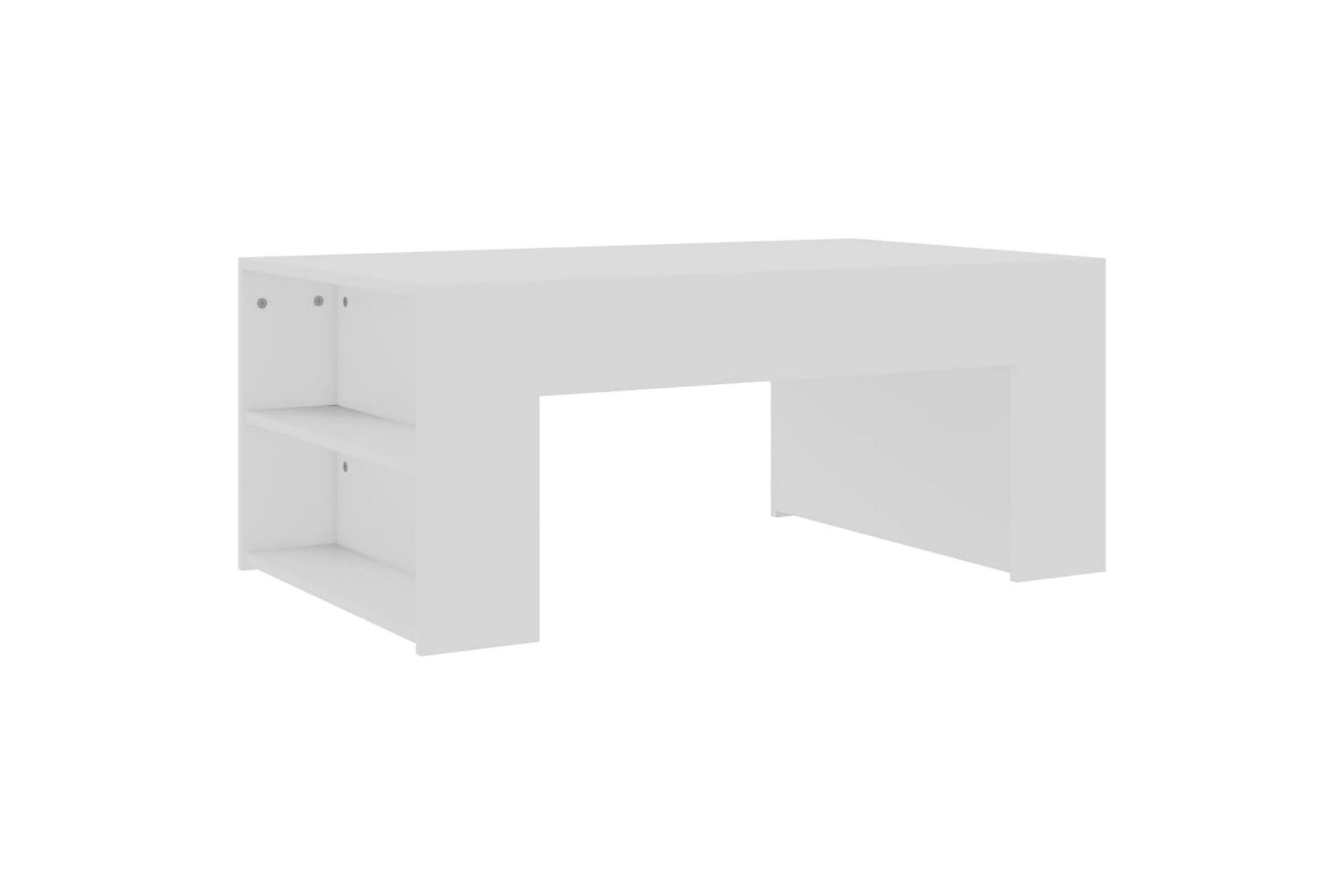 Soffbord vit 100x60x42 cm spånskiva