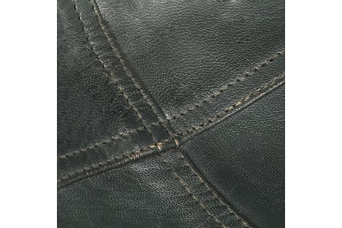 Fladdermusfåtölj grå äkta läder - Svart|Grå - Möbler & Inredning - Fåtöljer & fotpallar - Fåtöljer