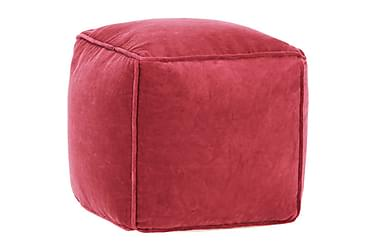 Sittpuff bomullssammet 40x40x40 cm röd