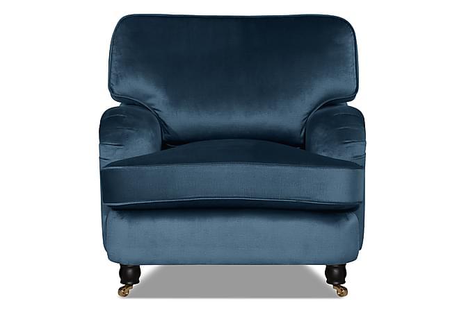 HOWARD LUX Sammetsfåtölj Mörkblå - Möbler & Inredning - Fåtöljer & fotpallar - Howard fåtölj