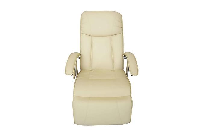Massagefåtölj gräddvit konstläder - Gräddvit - Möbler & Inredning - Fåtöljer & fotpallar - Massagestolar & massagefåtöljer