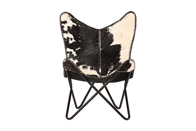 Fladdermusfåtölj svart och vit äkta getskinn - Flerfärgad - Möbler & Inredning - Fåtöljer & fotpallar - Skinnfåtölj