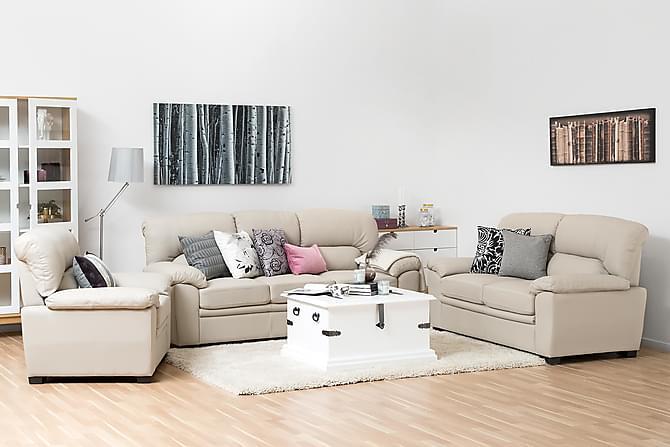 SIGGE Fåtölj Ecoläder Offwhite - Möbler & Inredning - Fåtöljer & fotpallar - Skinnfåtölj