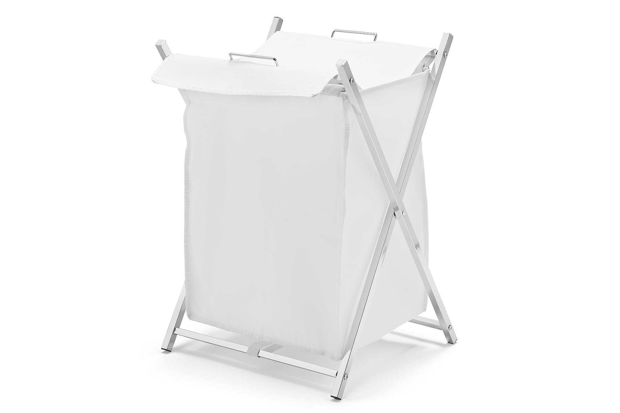 CLEAN Tvättkorg 65 Krom/Vit