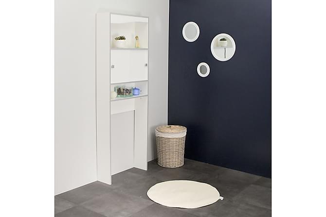 JENJA Högskåp till Tvättmaskin Vit/Grå - Möbler & Inredning - Förvaring - Badrumsförvaring