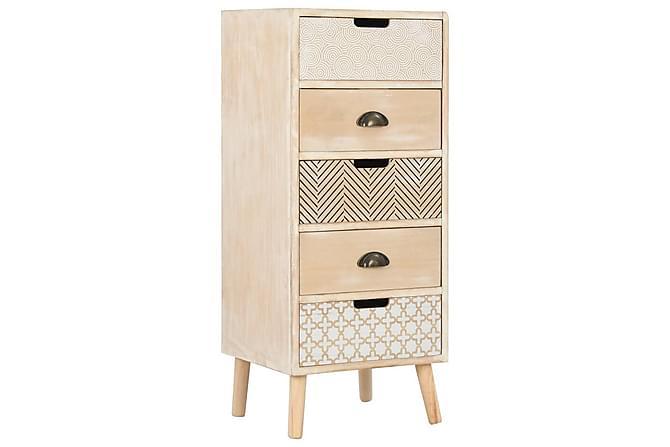 Byrå med 5 lådor 40x35x95,5 cm - Brun - Möbler & Inredning - Förvaring - Byråer