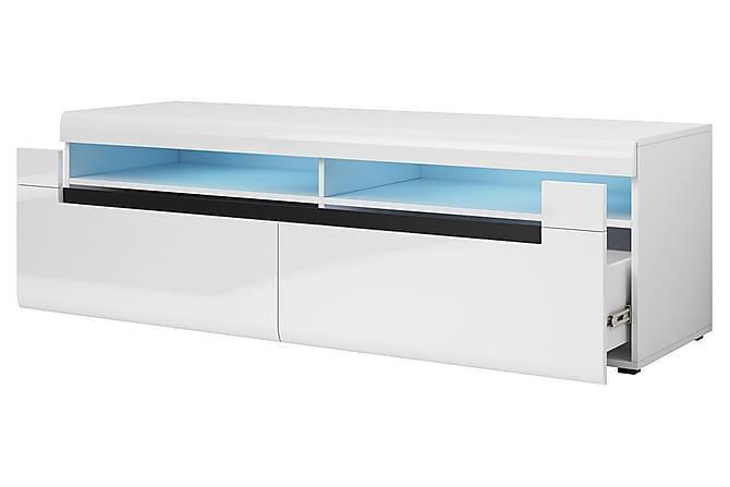HEKTOR Byrå 50x160 cm Vit/Högglans - Möbler & Inredning - Förvaring - Byråer