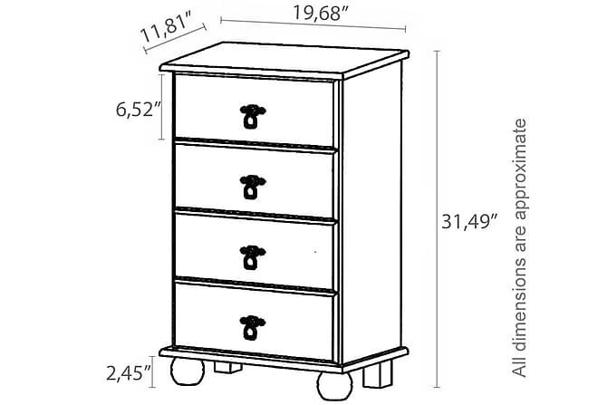 SARALA Byrå 50x80 Vit - Möbler & Inredning - Förvaring - Byråer