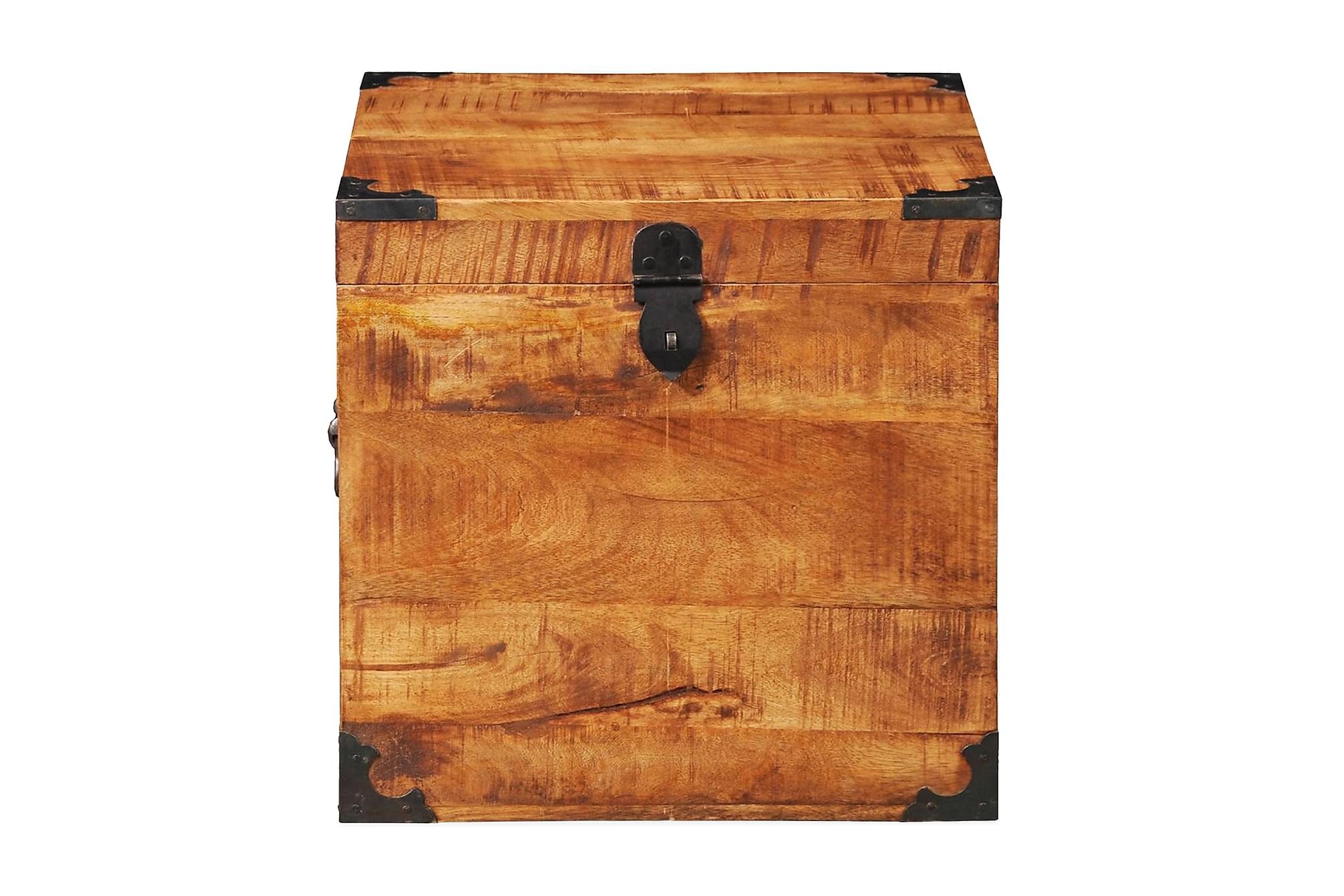 Förvaringskista kubisk robust mangoträ, Förvaringskistor & sängkistor