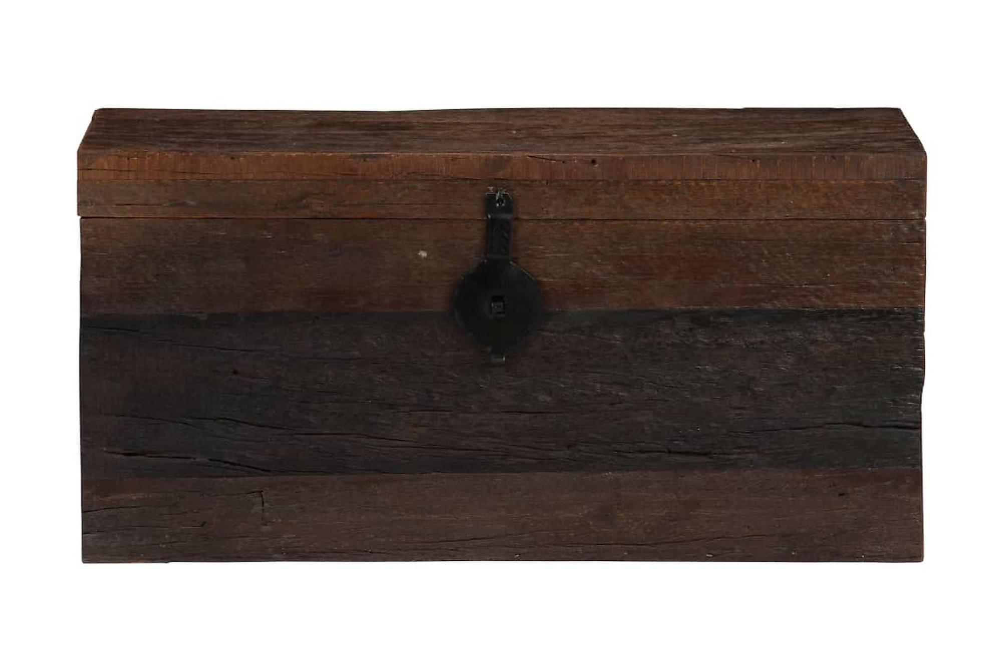 Förvaringslåda massivt återvunnet trä 80x40x40 cm, Förvaringskistor & sängkistor