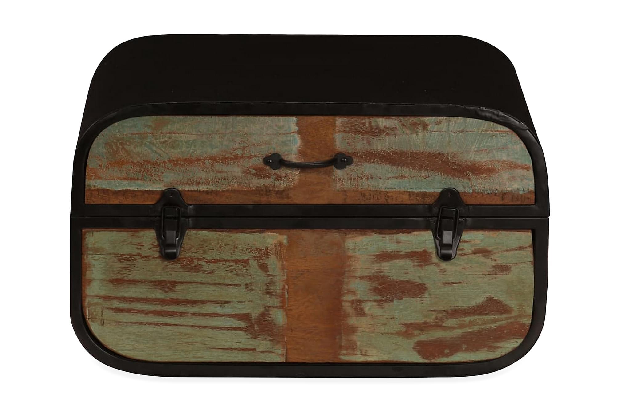 Kista massivt återvunnet trä 60x60x35 cm, Förvaringskistor & sängkistor