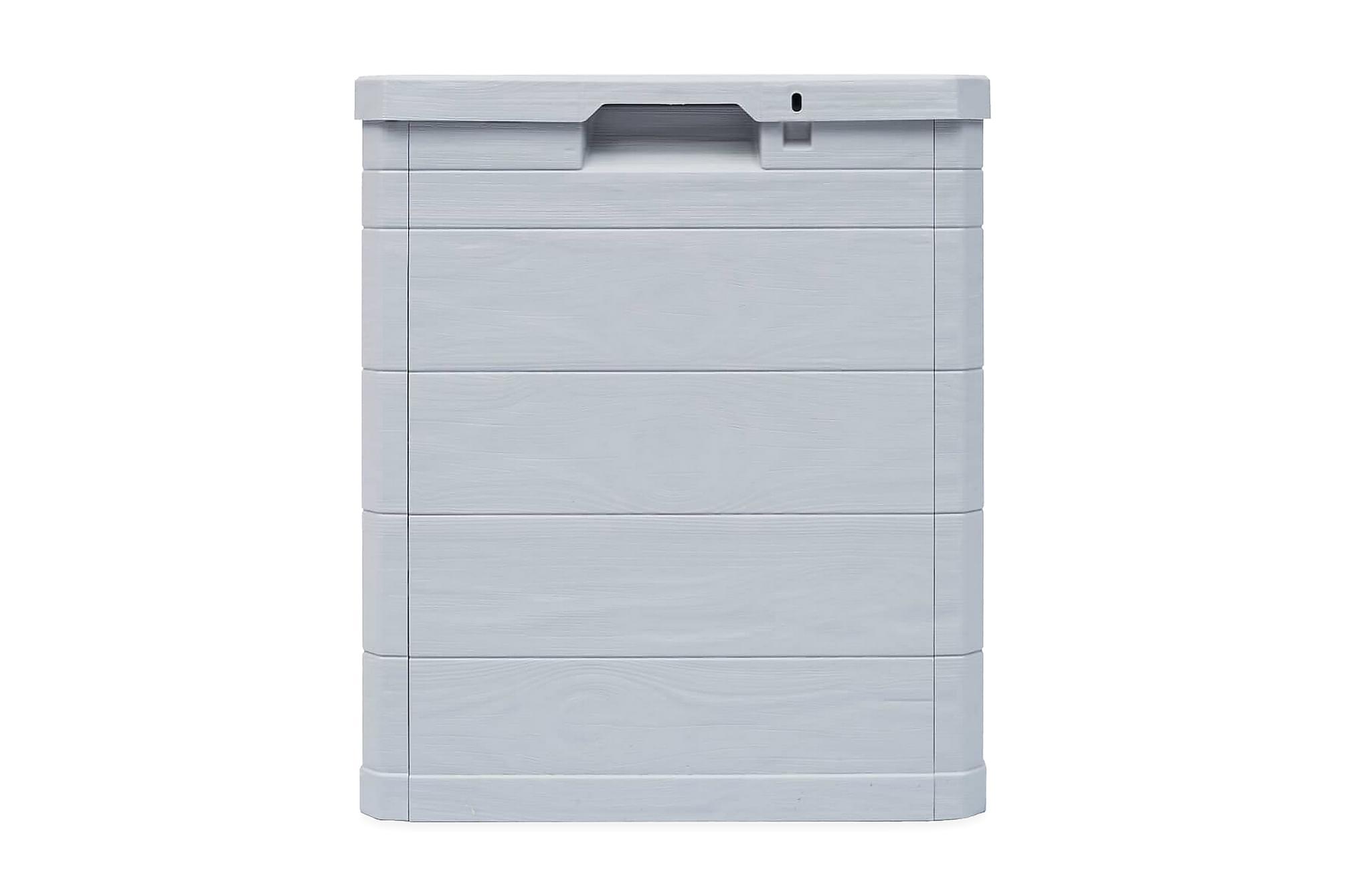 Dynbox 90 liter ljusgrå, Förvaringslådor & korgar