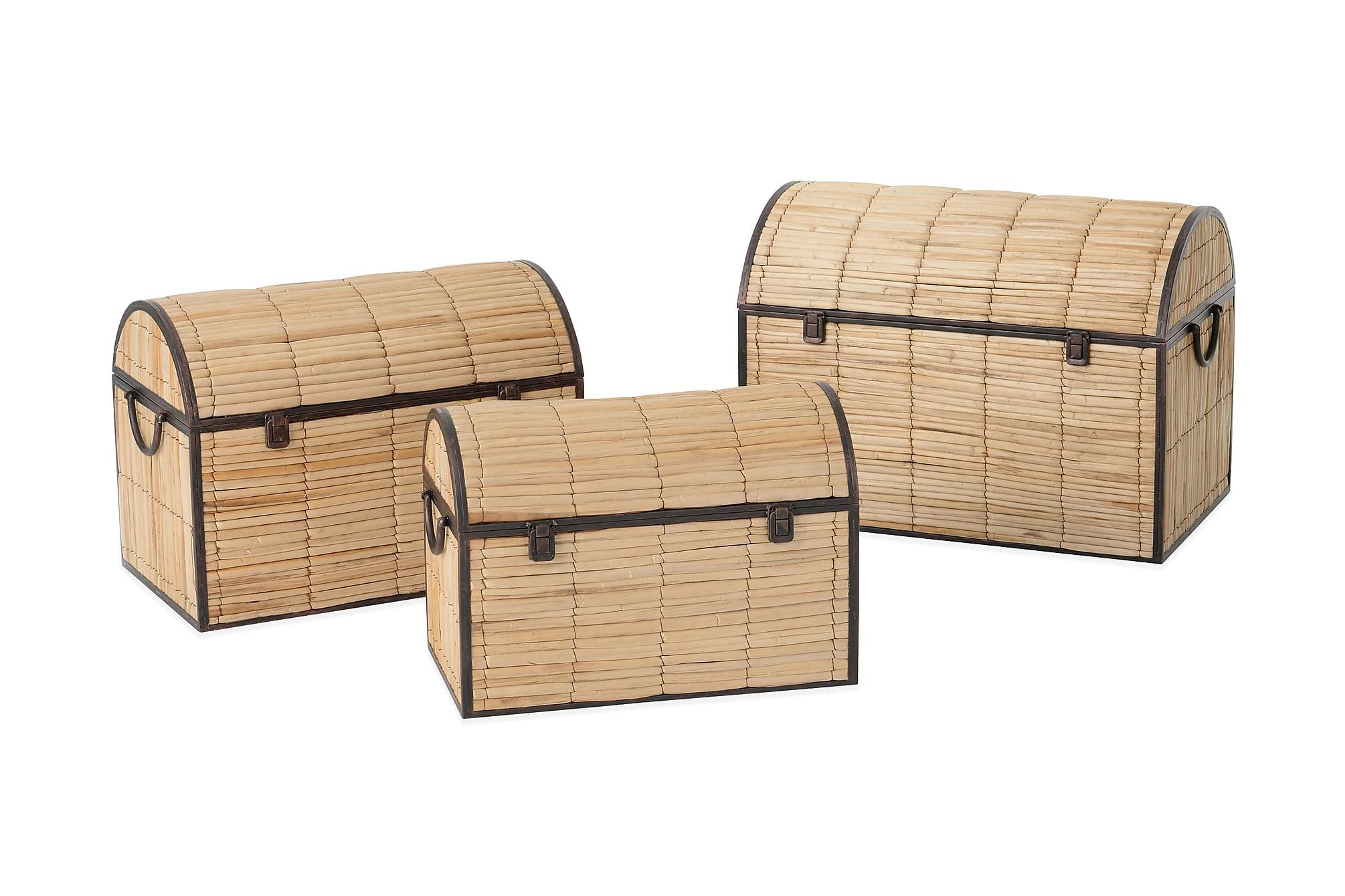 Förvaringslåda 64 Trä/Natur, Förvaringslådor & korgar