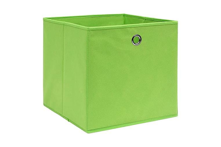 Förvaringslådor 10 st non-woven tyg 28x28x28 cm grön - Grön - Möbler & Inredning - Förvaring - Förvaringslådor & korgar