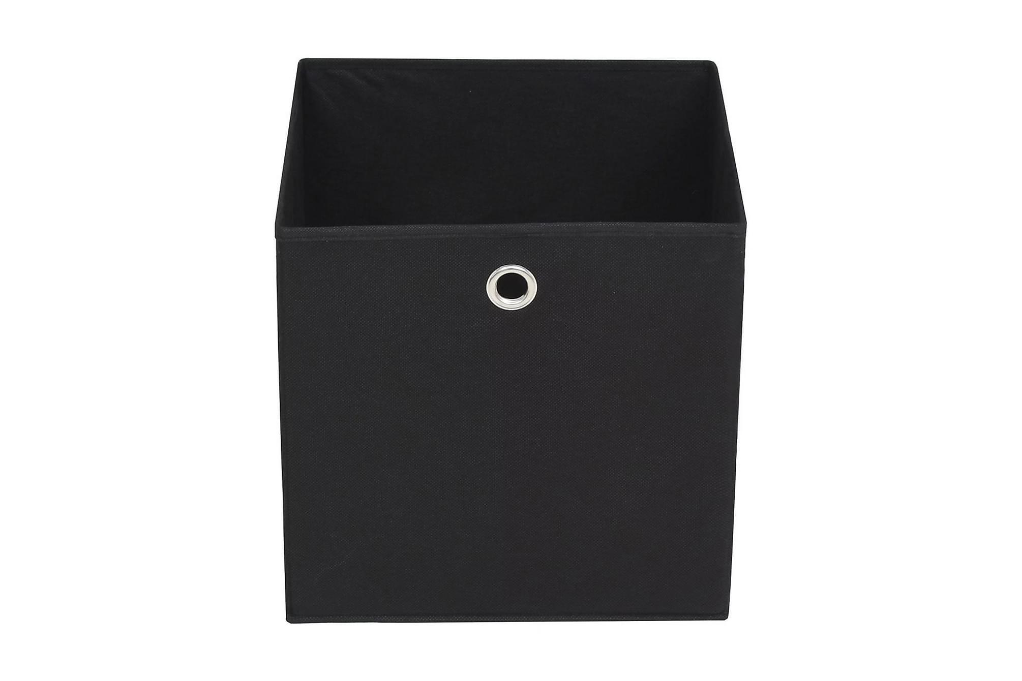 Förvaringslådor 10 st non-woven tyg 32x32x32 cm svart, Förvaringslådor & korgar