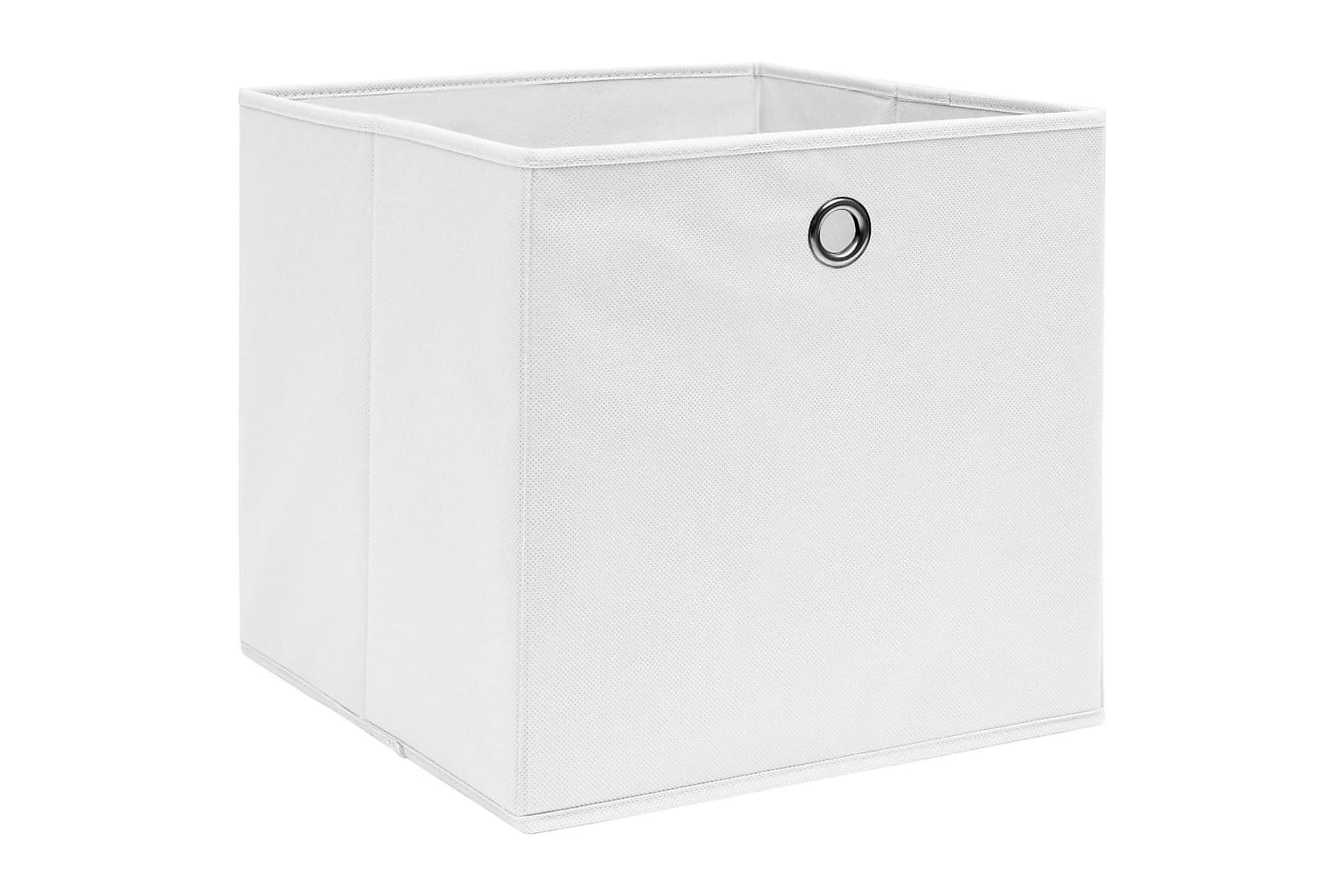 Förvaringslådor 10 st vit 32x32x32 cm tyg, Förvaringslådor & korgar