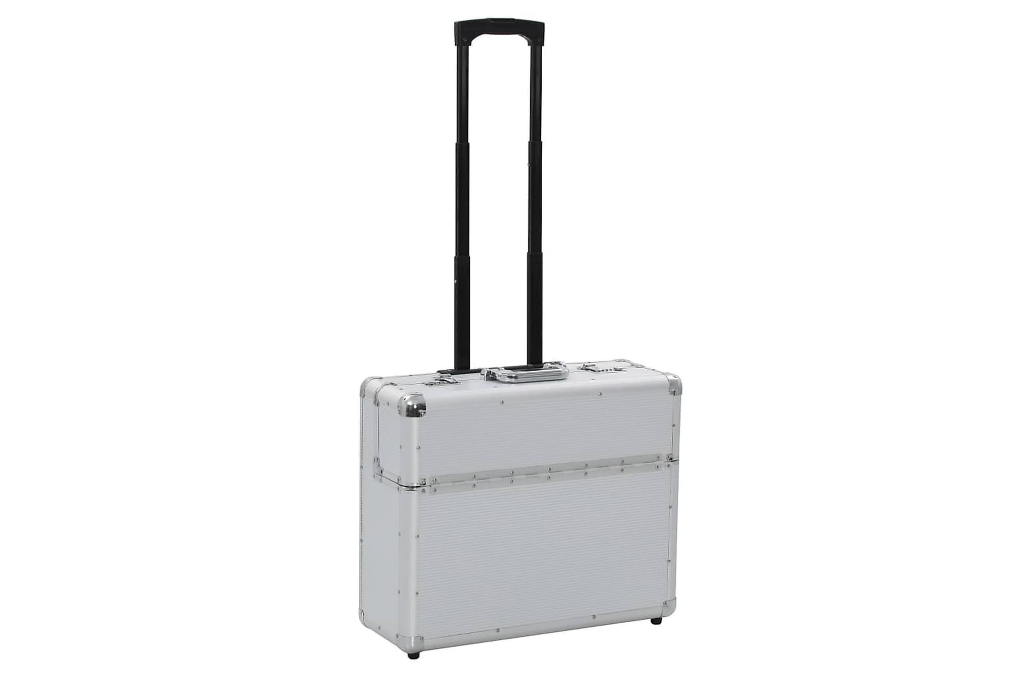 Pilotväska 54x44x21 cm silver aluminium