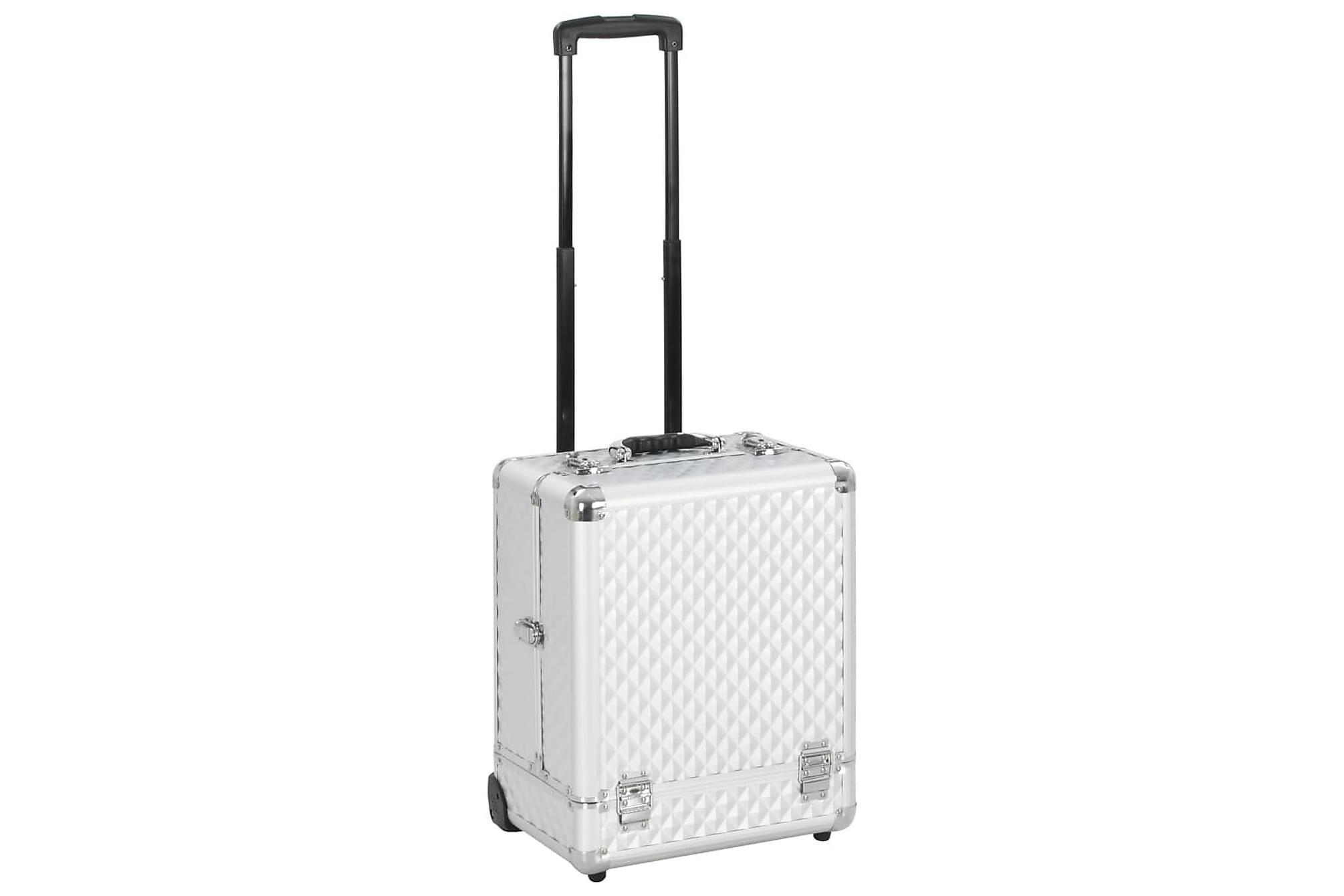 Sminkresväska 35x29x45 cm silver aluminium
