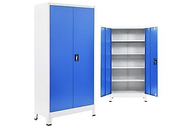 AVNER Kontorsskåp 2 Dörrar 90x180 Grå/Blå