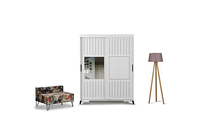 BRADLEY Garderob 140 Vit - Vit - Inomhus - Förvaring - Garderober