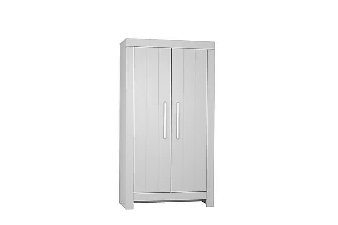Calmo Garderob 110,7x56x204,8 cm - Vit - Inomhus - Förvaring - Garderober