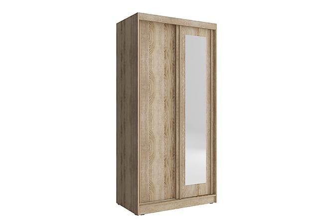 CARITA Garderob 150x62x200 cm - Beige|Vit - Inomhus - Förvaring - Garderober