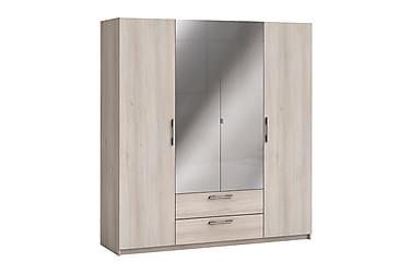 CERES Garderob 186 4 Dörrar 2 Lådor Spegel Akacia