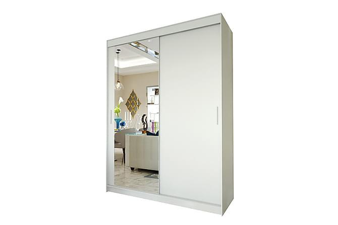 DEGA Garderob 150x58x200 cm - Vit - Möbler & Inredning - Förvaring - Garderober