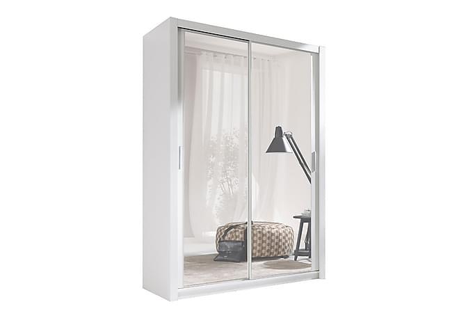 EMELSTA Garderob 150 2 Speglar Vit - Inomhus - Förvaring - Garderober