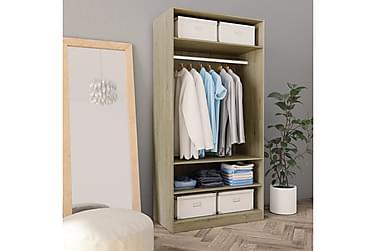 Garderob sonoma-ek 100x50x200 cm spånskiva
