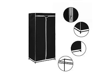 Garderob svart 75x50x160 cm